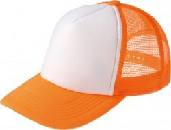 123 蛍光オレンジ×ホワイト